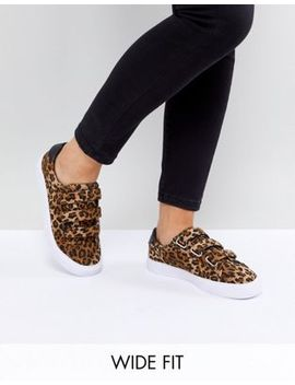 Asos Didi Wide Fit Strap Trainers by Asos Collection