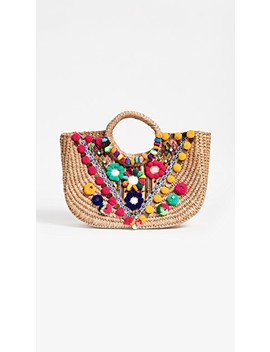 Embellished Basket Tote by Pitusa
