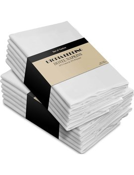 Cotton Dinner Napkins White   12 Pack (18 Inches X18 Inches) Soft And Comfortable   Durable Hotel Quality   Ideal For Events And Regular Home Use   By Utopia Bedding by Utopia Bedding