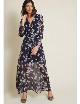 Glide Me Home Chiffon Maxi Dress Glide Me Home Chiffon Maxi Dress by Modcloth