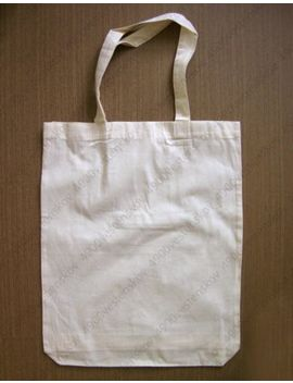 Muji Minimal Simple Natural Beige Cotton Shopping Eco Tote Bag Large by Unbranded