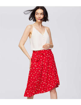 Petite Floral Midi Wrap Skirt by Loft