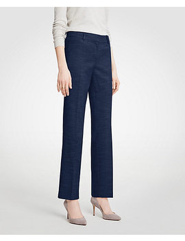 The Straight Leg Pant In Textured Stretch by Ann Taylor