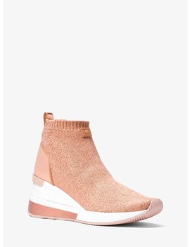 Skyler Metallic Knit High Top Trainer by Michael Michael Kors