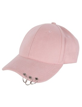 Unisex Casual Solid Adjustable Baseball Caps Snapback Hats For Men Baseball Cap Women Men White Baseball Cap Hat With Rings 896 by Dick