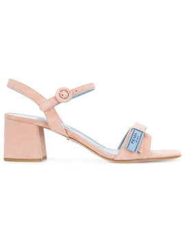 Block Heeled Sandals by Prada