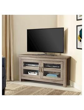 "44"" Wood Corner Tv Media Stand Storage Console   Driftwood   Saracina Home by Saracina Home"