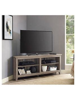 "58"" Wood Tv Media Stand Storage Console   Driftwood   Saracina Home by Saracina Home"