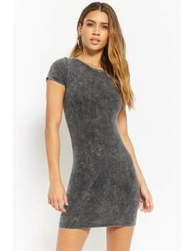 Mineral Wash T Shirt Dress by Forever 21