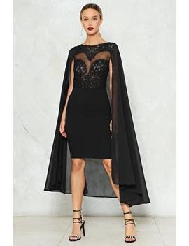 Cape A Secret Sequin Dress by Nasty Gal