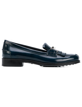 Double T Fringe Loafers by Tod's