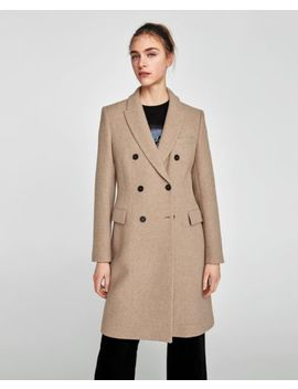 Zara Sand Double Breasted Coat | Xs   Xl | by Zara