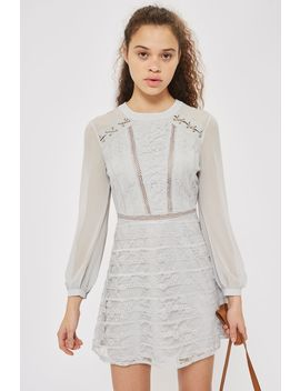 Lace Up Shoulder Mini Dress by Topshop