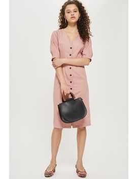 Washed Twill Seam Midi Dress by Topshop