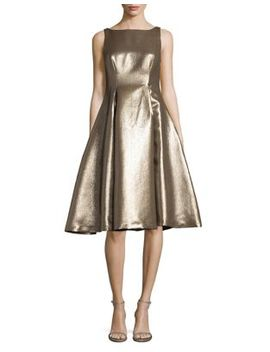 Metallic Fit & Flare Dress by Adrianna Papell