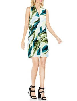 Breezy Leaves Inverted Pleat Dress by Vince Camuto