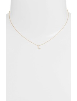 Mini Moon Diamond Choker Necklace by Ef Collection