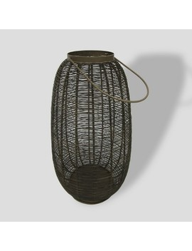 "16"" Brown Metal Weave Outdoor Lantern   Project 62™ by Shop This Collection"