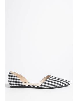 Gingham Pointed Toe Flats by Forever 21
