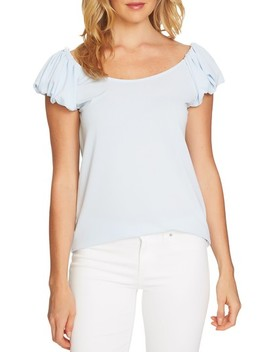 Puffed Short Sleeve Top by Cece