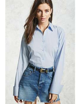 Oversized Button Down Shirt by Forever 21