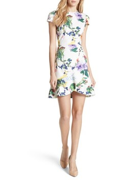 Kirby Ruffled Floral Dress by Alice + Olivia