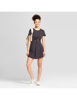 Women's Twist Front T Shirt Dress   Mossimo Supply Co.™ Washed Black by Mossimo Supply Co.