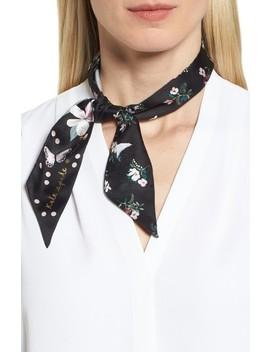 Flora Skinny Silk Scarf by Kate Spade New York
