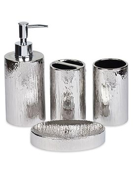 Natural Bathroom Accessory Sets Design Silver Ceramic Organizer by Blue Donuts