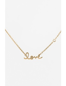 'love' Necklace by Shy By Se