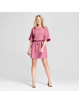 Women's Tie Waist Flutter Sleeve Dress   Loramendi   Purple by Loramendi