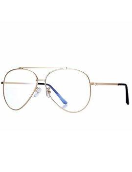 Pro Acme Classic Vintage Memory Metal Aviator Clear Lens Glasses Non Prescription by Pro Acme