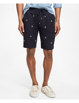 Anchor Embroidered French Terry Shorts by Brooks Brothers