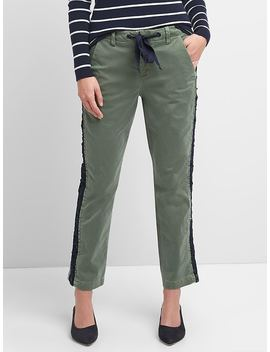 Girlfriend Chinos With Side Lace Detailing by Gap
