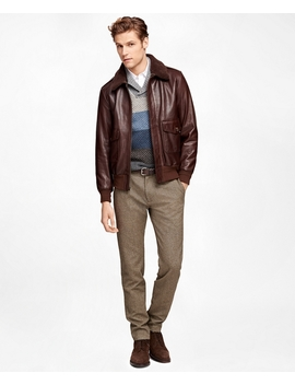 Leather Bomber Jacket by Brooks Brothers