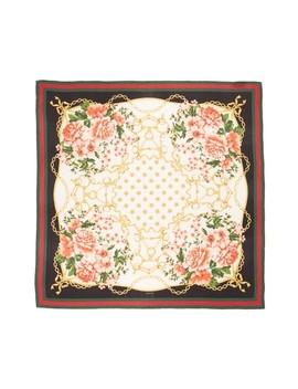 Rose Chain Foulard Silk Twill Scarf by Gucci