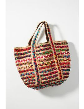 Fiesta Woven Tote Bag by Anthropologie
