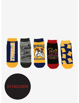 Riverdale No Show Socks 5 Pair Hot Topic Exclusive by Hot Topic