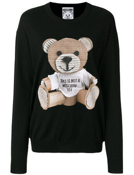 Cardboard Teddy Jumper by Moschino
