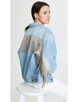 Fringed Jean Jacket by Helmut Lang