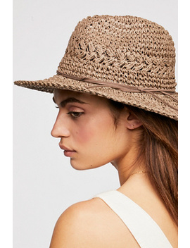 Summerland Crochet Straw Sun Hat by Free People