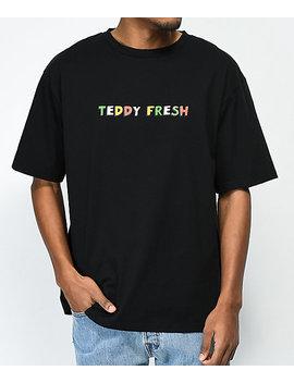 Teddy Fresh Logo Black T Shirt by Teddy Fresh Inc