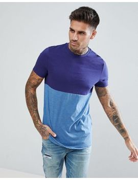 Asos Design T Shirt With Contrast Body Block by Asos