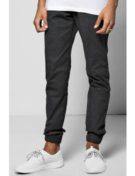 Smart Woven Joggers With Elasticated Waistband by Boohoo