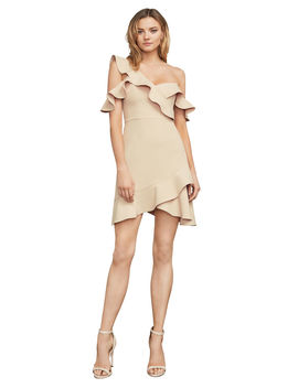 Malik Asymmetrical Ruffle Dress by Bcbgmaxazria