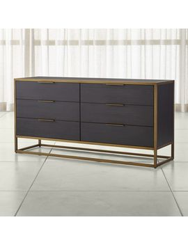 Oxford Black 6 Drawer Dresser by Crate&Barrel