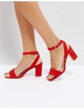 Coco Wren Mid Block Heel Sandal by Shoes