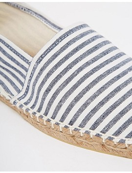 Asos Wide Fit Canvas Espadrilles In Navy And Blue Stripe 2 Pack Save by Asos