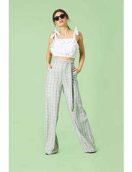 High Waist Plaid Pants by F21 Contemporary