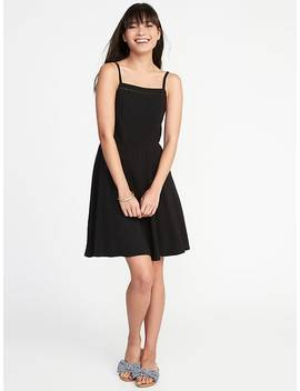 Fit &Amp; Flare Square Neck Cami Dress For Women by Old Navy
